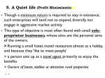 5 a quiet life profit minimizatio n