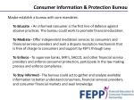 consumer information protection bureau