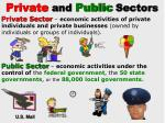 private and public sectors