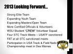 2013 looking forward