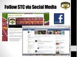 follow stc via social media