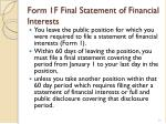form 1f final statement of financial interests