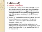 liabilities e comparative threshold only