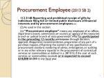 procurement employee 2013 sb 2