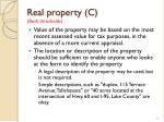 real property c both thresholds1