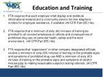 preparing re education and training