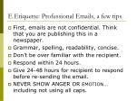 e etiquette professional emails a few tips