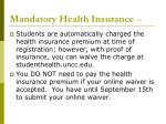 mandatory health insurance