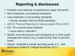 reporting disclosures