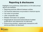 reporting disclosures1