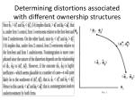 determining distortions associated with different ownership structures