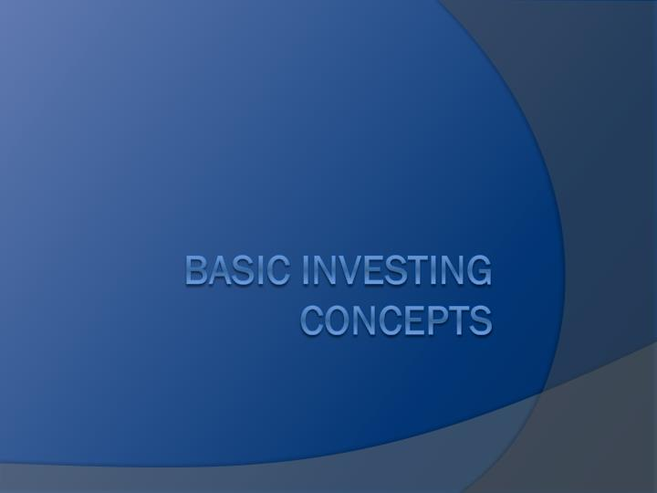 basic investing concepts n.