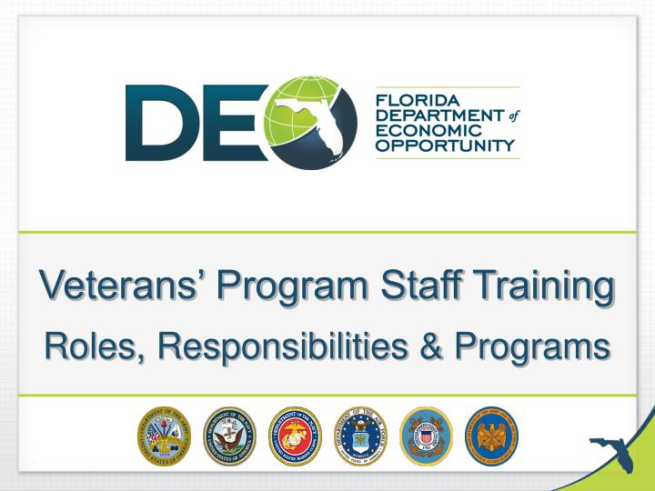 veterans program staff training roles responsibilities programs n.