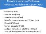 there s a variety of software products available to support gps
