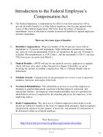 introduction to the federal employee s compensation act