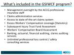 what s included in the gsiwcf program