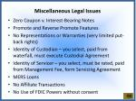 miscellaneous legal issues