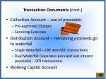 transaction documents cont2