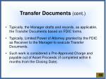 transfer documents cont