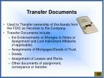 transfer documents