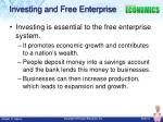 investing and free enterprise