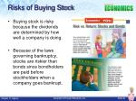 risks of buying stock
