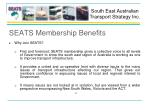 seats membership benefits
