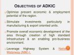 objectives of adkic