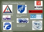 union guessing game