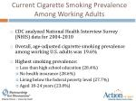 current cigarette smoking prevalence among working adults