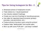 tips for using instagram for biz 2