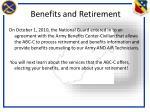 benefits and retirement