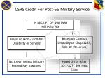 csrs credit for post 56 military service
