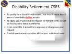 disability retirement csrs