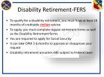 disability retirement fers