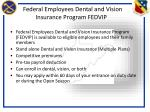 federal employees dental and vision insurance program fedvip