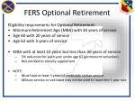 fers optional retirement