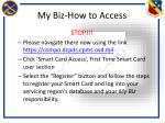 my biz how to access