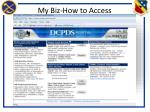my biz how to access1