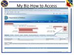 my biz how to access4