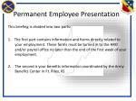 permanent employee presentation