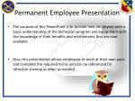 permanent employee presentation1
