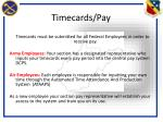 timecards pay