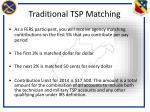 traditional tsp matching