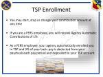 tsp enrollment