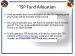 tsp fund allocation