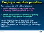 employer mandate penalties