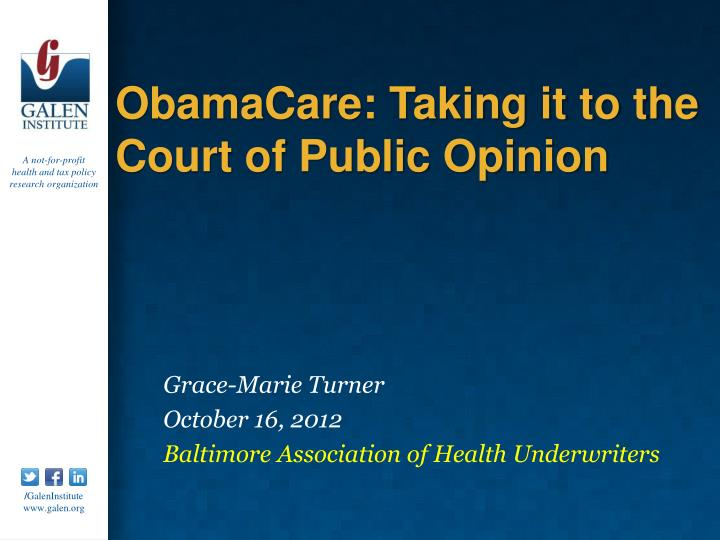 obamacare taking it to the court of public opinion n.