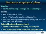 studies on employers plans