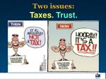 two issues taxes trust